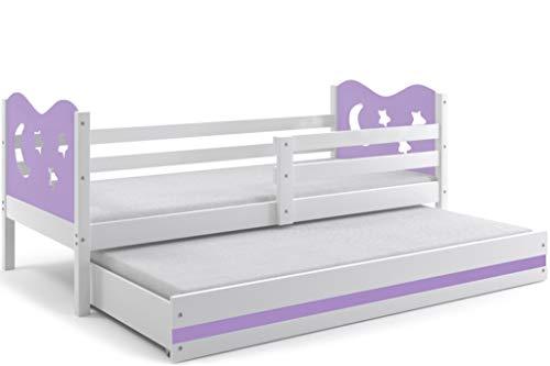 interbeds Función cama Miko 190x 90cm color: weiβ + 2. Color a elegir; con somieres y colchones