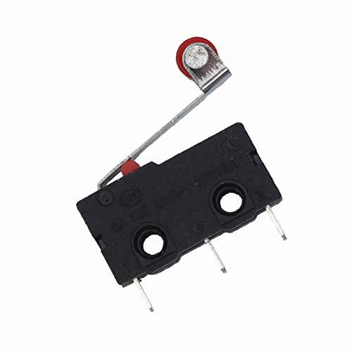 Duradero Mini interruptor Mini Micro de 10pcs con interruptor de límite de rodillo (Color : Black)