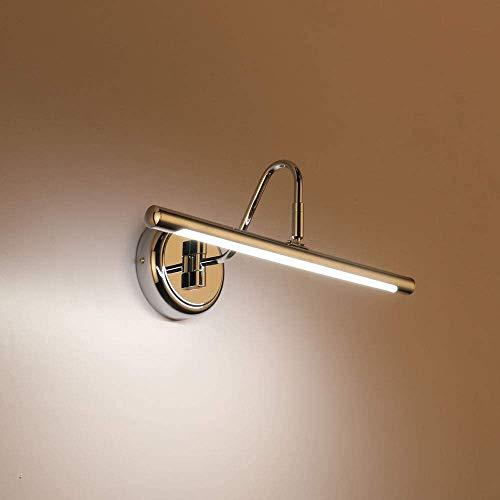 ECOBRT LED-Bilderleuchten 14W,Chromende Farbe, kurze Metallgrafiklampe,Natürliches Weiß, 4000K, festverdrahteter Schwenkarm (CHROME, 62CM)