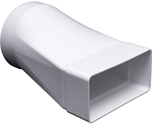 Adapter, Ø 100 mm für 55 x 110 Flachkanal Lüftungssysteme. Abluftkanal oder Zuluftkanal. Hohe Qualität ABS-Kunststoff (FS55-CV100)