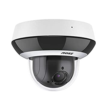 ANNKE CZ400 4MP PoE IP Audio Security Camera PTZ CCTV Dome Cam with AI Human 4X Optical Zoom H.265+ Color Night Vision Pan & Tilt Auto Focus RTSP IP66 Waterproof for Outdoor