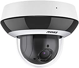 ANNKE CZ400 4MP PoE IP Audio Security Camera, PTZ CCTV Dome Cam with AI Human, 4X Optical Zoom, H.265+ Color Night Vision, Pan & Tilt, Auto Focus, RTSP, IP66 Waterproof for Outdoor