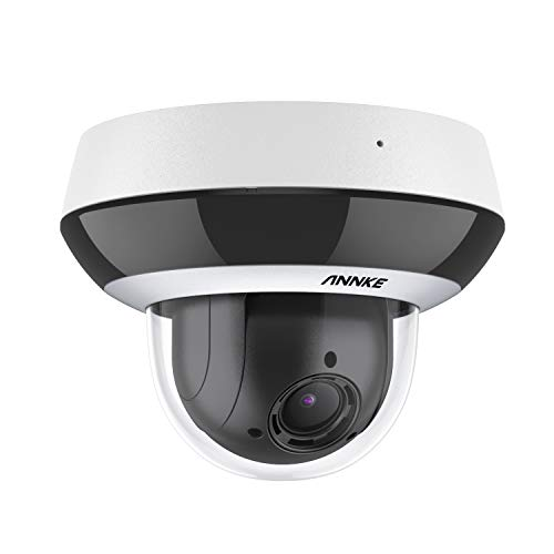 ANNKE CZ400 PoE Cámara de Vigilancia 4MP Super HD IP PTZ de Red con 4X Zoom óptico Motorizado 2.8-12mm H.265 + IK10 Antivandálico Camera de Seguridad IP66 Impermeable para Grabaciones de Audio