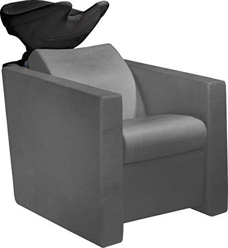 Salon Ambience Professionelle Haarwaschanlage Revolution+ Waschanlage mit Waschbecken, schwarz/hell-grau