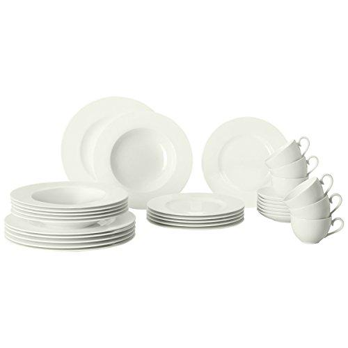 Villeroy & Boch, set di stoviglie, per 6persone, 30pezzi, colore bianco crema