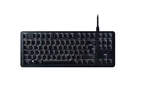 Razer BlackWidow Lite  - Silent Mechanical Gaming Keyboard (Kompakte Tastatur mit Razer Orange Switches (Taktil & Leise), Unterlegscheiben) DE-Layout