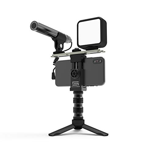 DREAMGRIP SCOUT MOJO Modular Rig Kit 2020 with 3 Microphones, LED Light and ALL-IN Accessories Set for PRO Video Production with ANY Smartphone for Journalists, Vloggers, YouTubeers, and Movie Makers