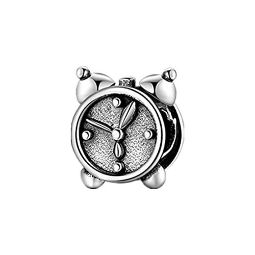 LISHOU Good Times, Reloj De Esmalte Verde, Reloj con Forma De TV, Cuentas De Plata De Ley 925, Abalorio para Hacer Joyas, Pulseras Europeas, Brazaletes D2