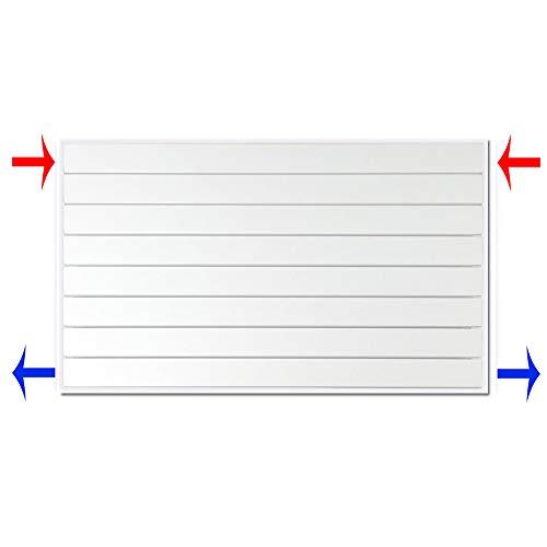 Design Paneelheizkörper horizontal Höhe 298 mm verschiedene Breiten Heizkörper Badheizkörper (298 mm x 1000 mm)