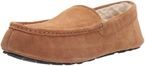Amazon Essentials Men s Leather Moccasin Slipper Chestnut 13 M US product image