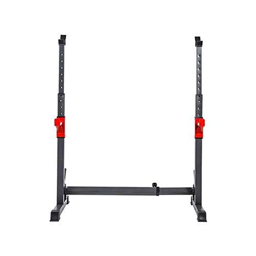 WSD LKNJLL Einstellbare Hochleistungs-Squat Rack-Standplatz, Flachbank Unterstützung, Multifunktions-Sturdy Durable