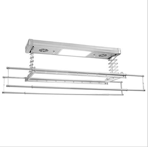 LHFJ Elektrische droogframe, plafond-aangebrachte elektrische optikkende kleding, het frame met LED-licht RC-besturing droogt