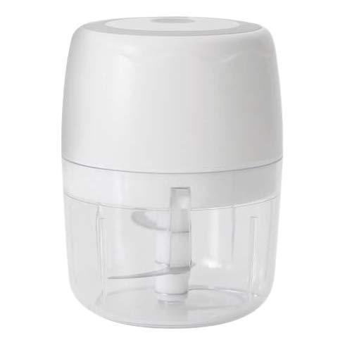 Haude Electric Food Chopper 400ML Portable Garlic Grinder, Multifunctional Slicer Processor for Vegetables,White