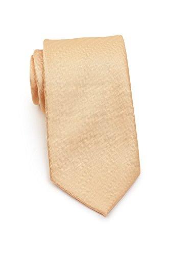 Blackbird lachsfarbene Krawatte mit Herringbone-Struktur, Mikrofaser Krawatte in 8,5cm breite…