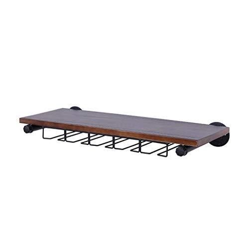 WIN&FACATORY wand Goblet frame van hout zwemdock Shelf multifunctionele bar hurtkast muur behang wijnglas rek * (grootte: 70 & tijden; 24cm) 70 × 24 cm.