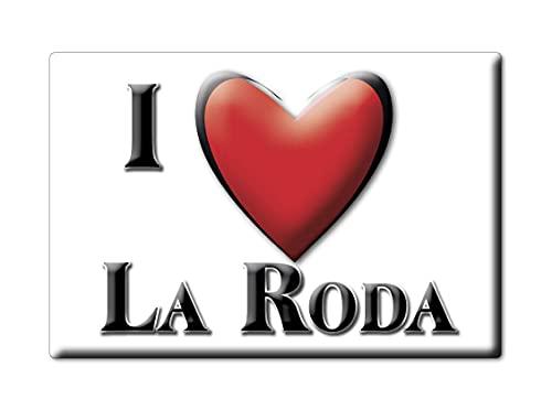 Enjoymagnets LA RODA (AB) Souvenir IMANES DE Nevera ESPAÑA Castilla LA Mancha IMAN Fridge Magnet Corazon I Love