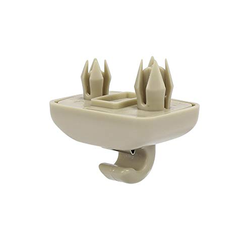 X AUTOHAUX Beige Coche Plástico Parasol Gancho Clip Soporte Retenedor 8U0857562