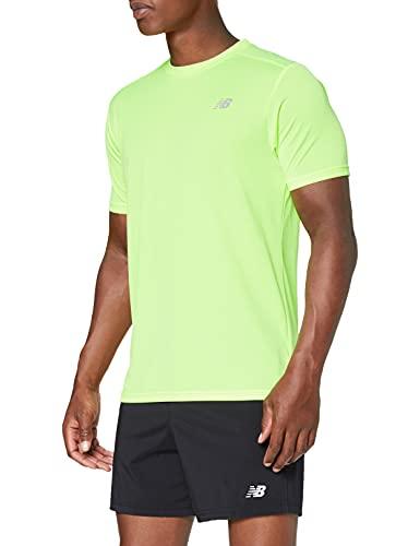 New Balance Core Run Short Sleeve, Da Uomo, Uomo, Top, MT11205, Bagliore di lime sbiancato, L