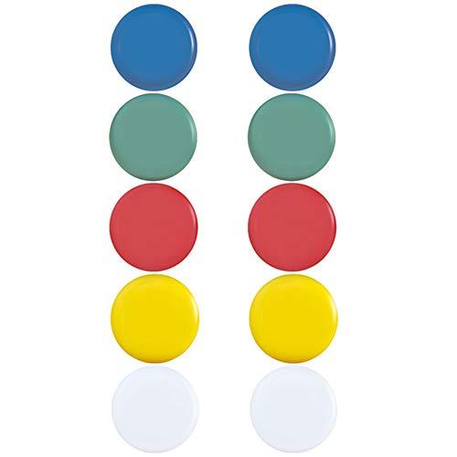 X 10 Aimants pour frigo tableau et multicolore 30 mm