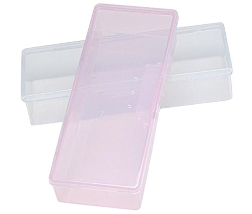 Nicedmm 2 Pcs Empty Multifunctional Rectangular Storage Box - Nail Jewelry Storage Box Polished Manicure Toolbox