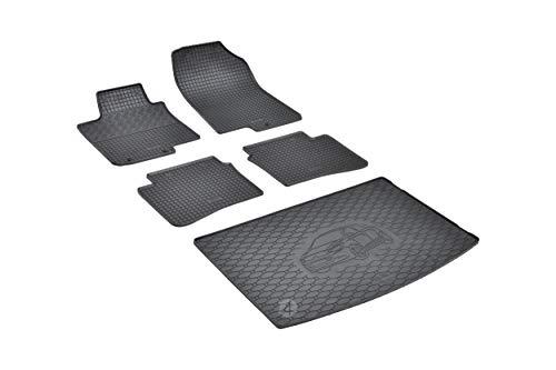 Passende Gummimatten und Kofferraumwanne Set geeignet für Hyundai i20 ab 2014 EIN Satz