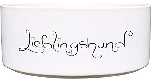 Cadouri Keramik Hundenapf » Lieblingshund « Futternapf Wassernapf - 1.300 ml