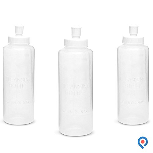 Pivit Portable Bidet Squeeze Bottle   8 Oz   Pack of 3   Adjustable Water Flow Helps Heal and Reduce Irritation   BPA Free Hand Held Peri Wash Cleanses Cleans & Soothes   Multi-Use Perineal Irrigation