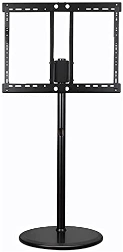 TV Base Stand Universal Heavy Duty Floor-Standing TV Stand Height Adjustable with Wire Management (Color : Black)