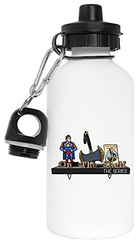 On The Shelf Botella de Agua Blanco Aluminio Reutilizable Water Bottle White Aluminium Reusable