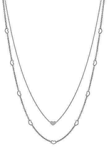 GMK Collection Damen-Kette Edelstahl 19 Zirkonia One Size Silber 32011646