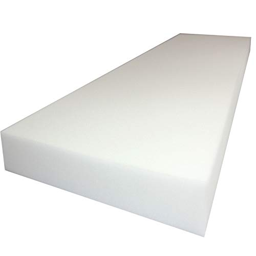 Mybecca 5 H x 24 W x 72 L High Density Firm Upholstery Foam Sheet for Seat Replacement, Cross-Sectional Cushion Pad, Foam Padding, Boat Seat, Benches & Auto Car Seats