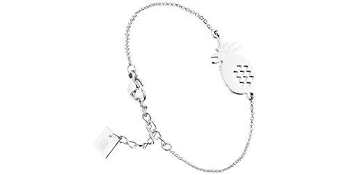 Zag Bijoux Steel Pineapple Chain Bracelet