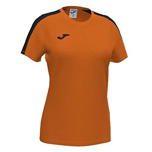 Joma Academy Camiseta Juego Manga Corta, Niñas, Naranja-Negro, 4XS-3XS