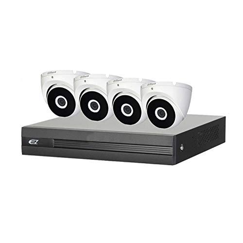 DAHUA EZ 4 canales CCTV System (incluido 4 cámaras CVI de 4 MP, 1 TB HDD, cableado y PS)
