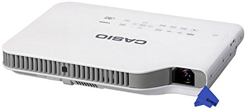 Casio XJ-A257 Ultra-Slim LED WXGA Projector with Wi-Fi + Psc Lens Cloth (3, 000 Lumens)