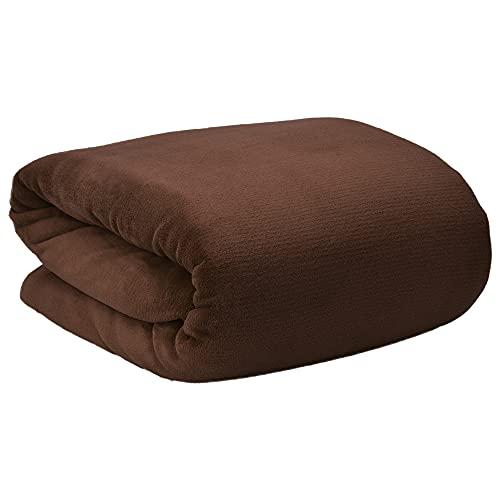 Beautissu Aurelia Kuscheldecke 150x200 cm – Flauschige Wohndecke für Sofa, Couch & Bett - Microfaser Fleecedecke als Tagesdecke oder Sofa Überwurf - weiche Wohnzimmerdecke – Dunkelbraun