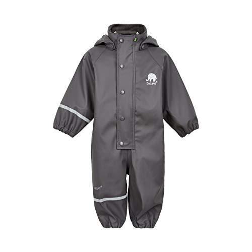 Celavi Baby-Jungen Regenanzug einteilig in Vier Farben Regenjacke, Grau (Grey 174), (Herstellergröße:80)