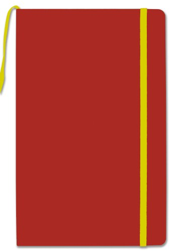 """BookFactory Journal/Writing Notebook/Red Blank Diary/Lined Pages Book - 192 Pages, 5.25"""" x 8.27�, Hardbound, Banded, Bookmark (JOU-192-CCS-R)"""
