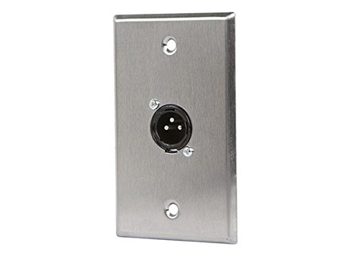 Monoprice 107397 XLR Male 3 -Pin One-Port Zinc Alloy Wall Plate