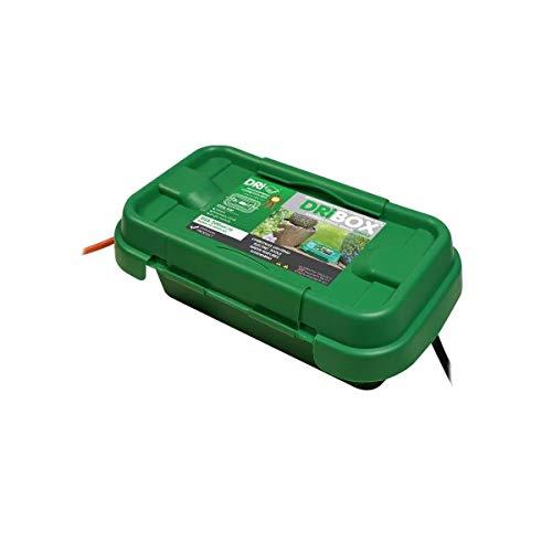 Outdoor DRiBOX - IP55 - Kabelschutzbox für sicheren Außenbetrieb von Weihnachtsbeleuchtung (Grün, S)
