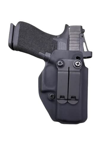 Black Kydex IWB Holster Compatible with Glock 43X MOS