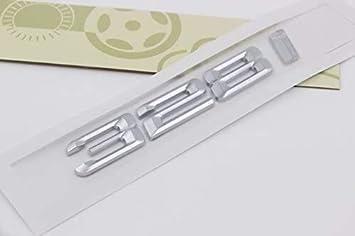 Color : 1 JXUS E704 328i Emblema Insignia Etiqueta engomada del autom/óvil con Letras 3D Insignia Trasera Pegatina de Coche N/úmeros N/úmeros N/úmeros