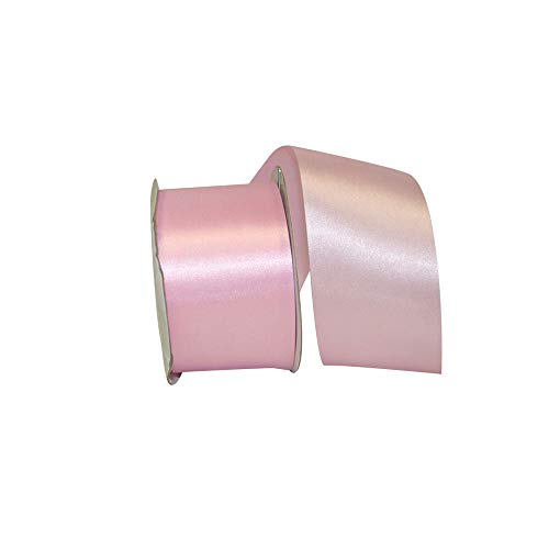 Reliant Ribbon Dyna Satin Ribbon, 2-1/2 Inch X 50 Yards, Pink