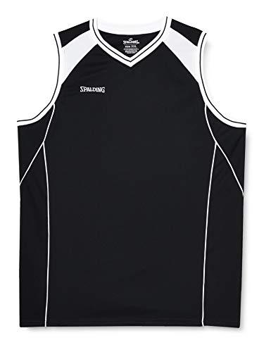 Spalding Shirt Crossover Tank Top, Schwarz/Weiß, XXL