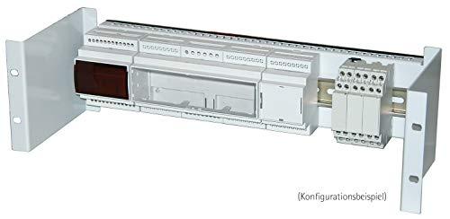 apra norm 19 Zoll Hutschienenhalter 3 HE, RAL 7035 (lichtgrau), inkl. Hutschiene, 1 Stück