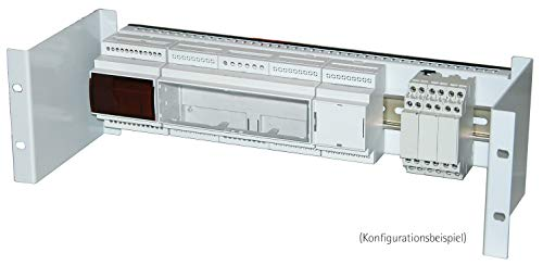 apra norm 19 Zoll Hutschienenhalter 3 HE, verzinkt, inkl. Hutschiene, 1 Stück