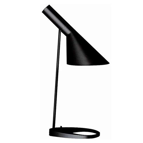 WeeLion Schwarz kreative nordischen minimalistischen Stil Lesen LED Tischlampe Legierung Material-Wohnzimmer Lampe/Büro/Schlafzimmer/Nachttischlampe