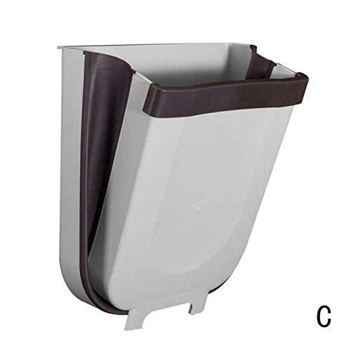Forart Cesta colgante para puerta de armario de cocina, cesta plegable, cajas compactas de cocina, cesta de cocina