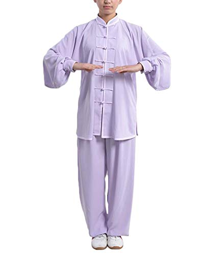 DianshaoA Tai Chi Uniforme Hebilla Collar de pie Mujeres Unisex de algodón Kung Fu Trajes...