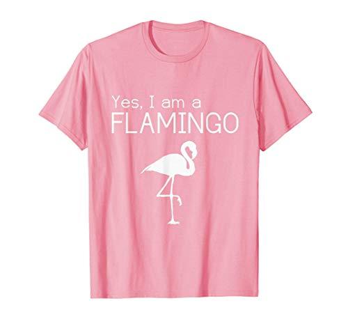 Yes I am a Flamingo - Disfraz de flamenco divertido Camiseta